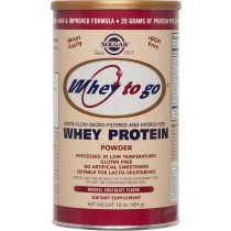 Whey To Go Protein Chocolate powder 454gr Solgar