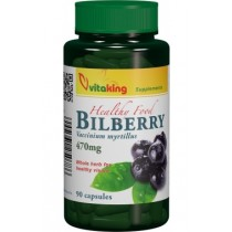 Afin negru (Bilberry) 470mg – 90 cps. Vitaking