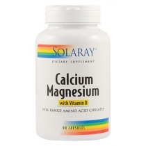 CALCIUM MAGNESIUM WITH VITAMINA D 90cps Solaray