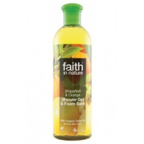 Gel De Duş natural Cu Grapefruit Și Portocală 400ml Faith in Nature