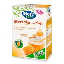 HERO BABY 8 CEREALE CU MIERE 6+