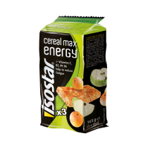 Isostar Batoane Energizante Cereale, Mere si Caise 3 x 55g