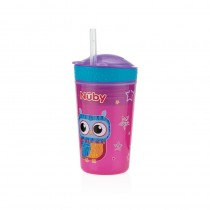 Nuby Pahar cu pai -Snack & Drink- 270ml, 24+