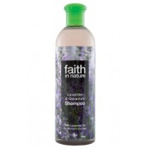Şampon natural Cu Lavandă Și Geranium 400ml Faith in Nature