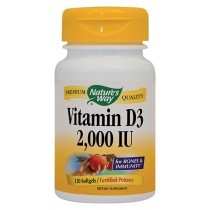 VITAMIN D3 2000UI 120cps moi Nature's Way