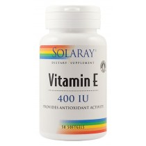 Vitamin E 400U.I. 50Cps  Solaray, Secom